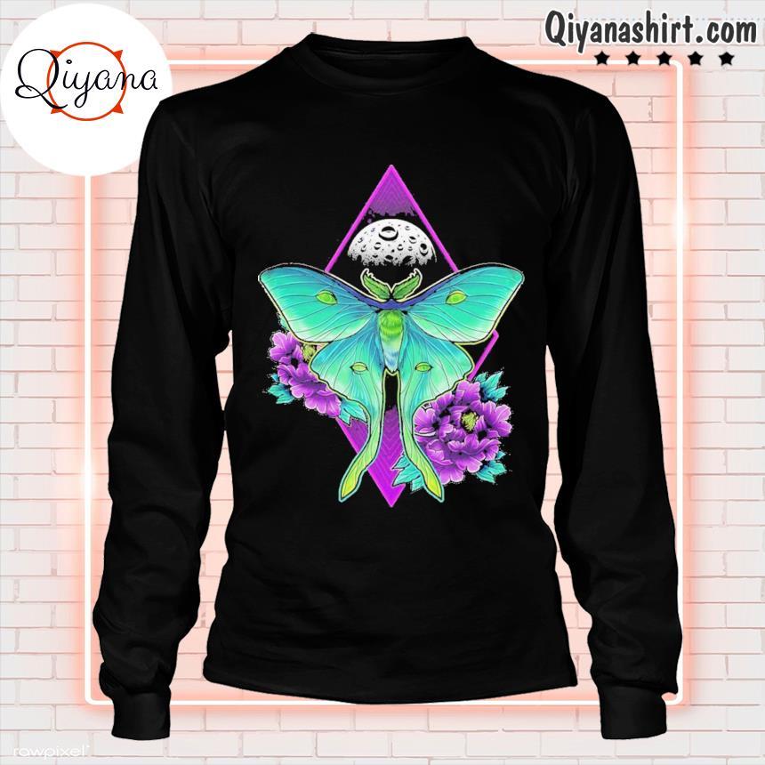 220 luna moth ideas longsleve-black
