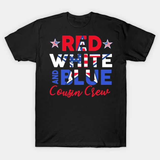 Cousin crew 4th of july kids family vacation group kids shirt
