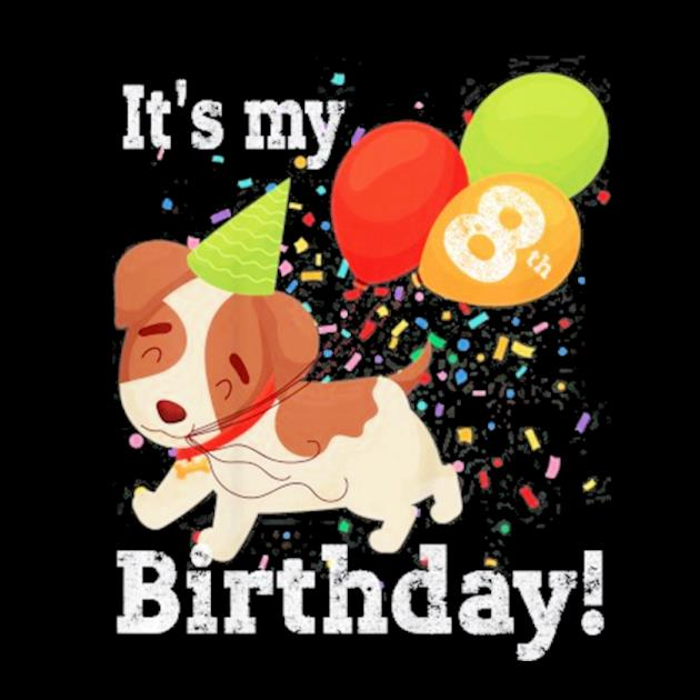 Kids it's my 8th birthday dog lover theme 8 years old puppy party preview