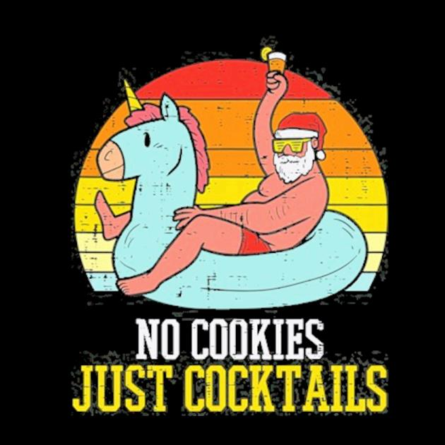 No cookies cocktails santa summer christmas in july xmas preview