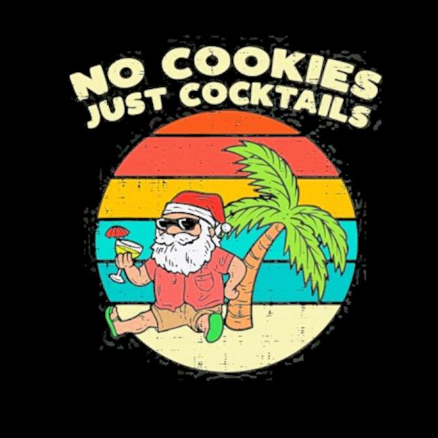 No cookies just cocktails santa beach christmas in july xmas preview