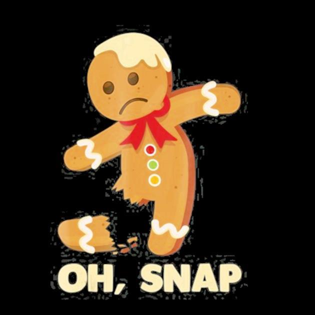 Oh snap gingerbread man broken leg christmas funny preview