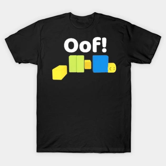 Oof roblox oof meme gaming noob for kids kids shirt