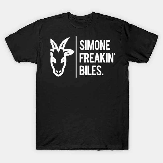 Simone biles is the goat. kids shirt