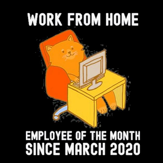 Work from home employee of the month since march 2020 cat preview