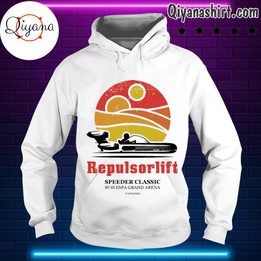 Repulsorlift speeder classic s hoodie-white