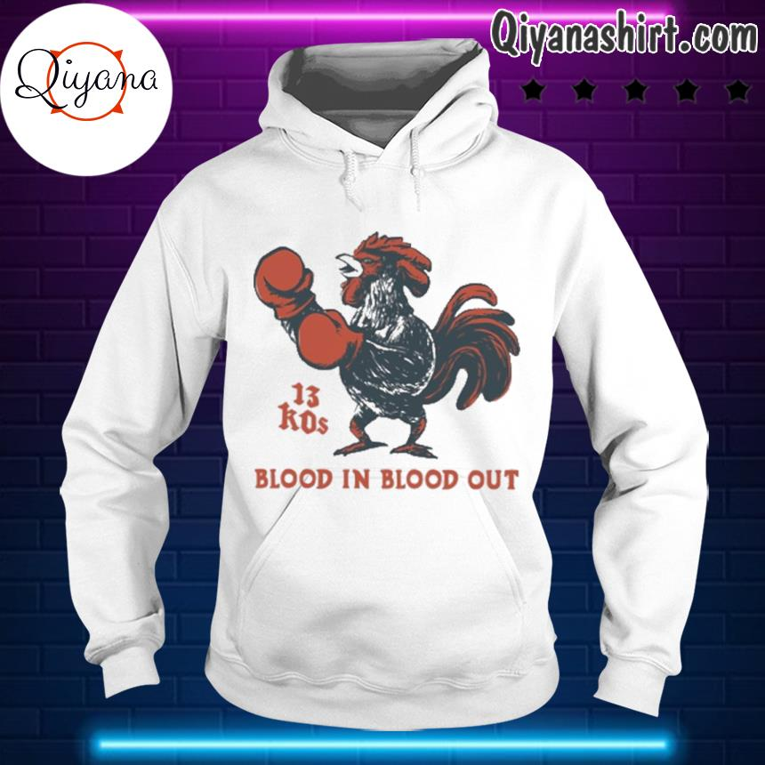 13 kos blood in blood out s hoodie-white