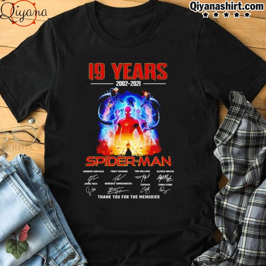 19 Years 2002 2021 Spider Man Thank You For The Memories Shirt