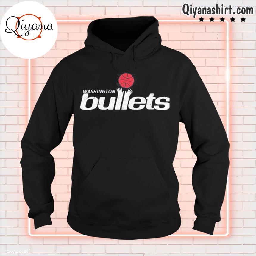 1995 Washington bullets roster basketball logo s hoodie-black