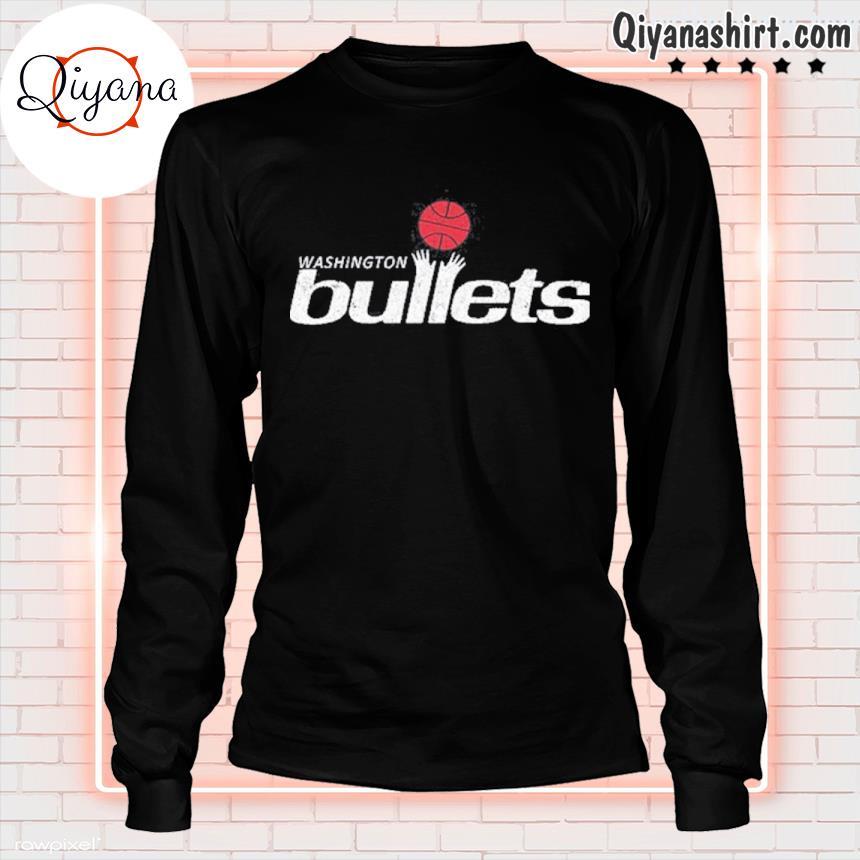 1995 Washington bullets roster basketball logo s longsleve-black
