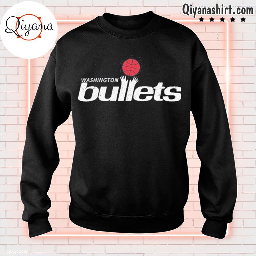 1995 Washington bullets roster basketball logo s sweatshirt-black