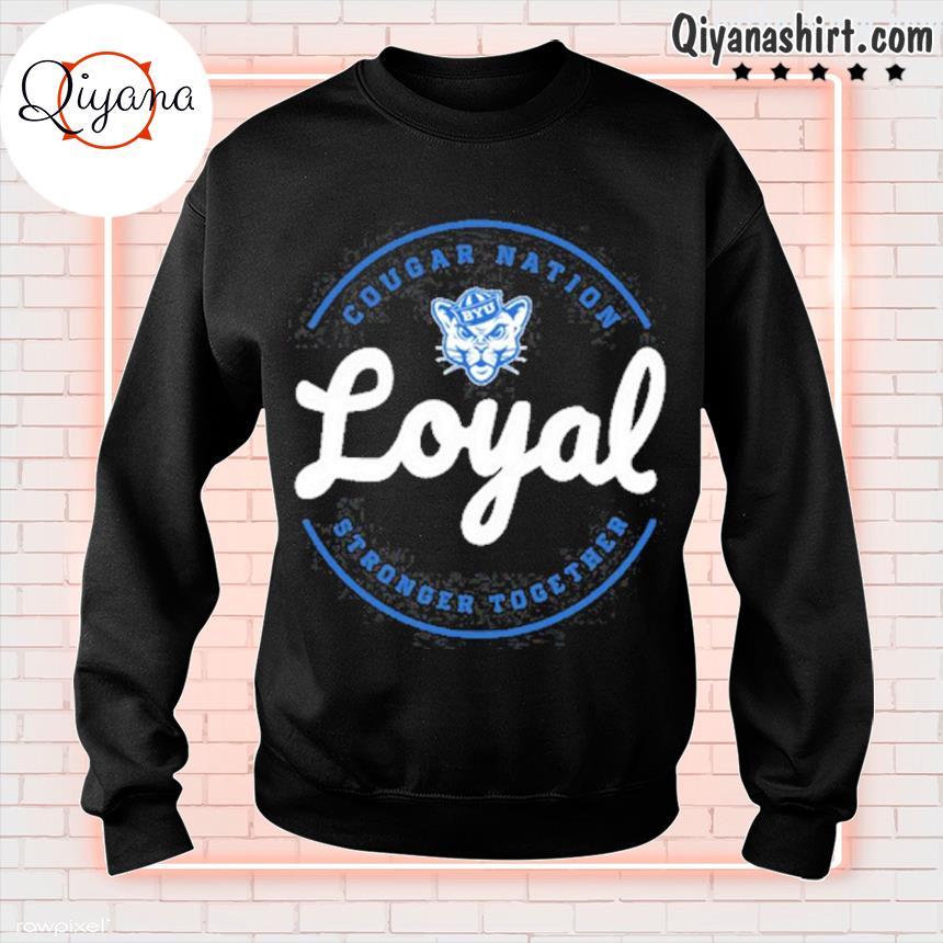2021 cougar nation loyal gameday byu Football s sweatshirt-black