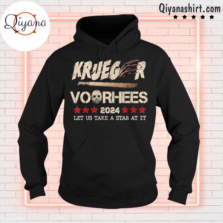 2024 let us take a stab at it halloween krueger voorhees s hoodie-black
