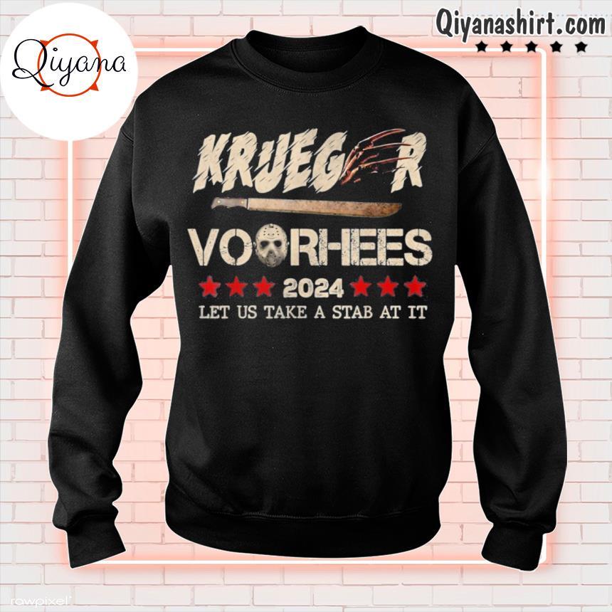 2024 let us take a stab at it halloween krueger voorhees s sweatshirt-black