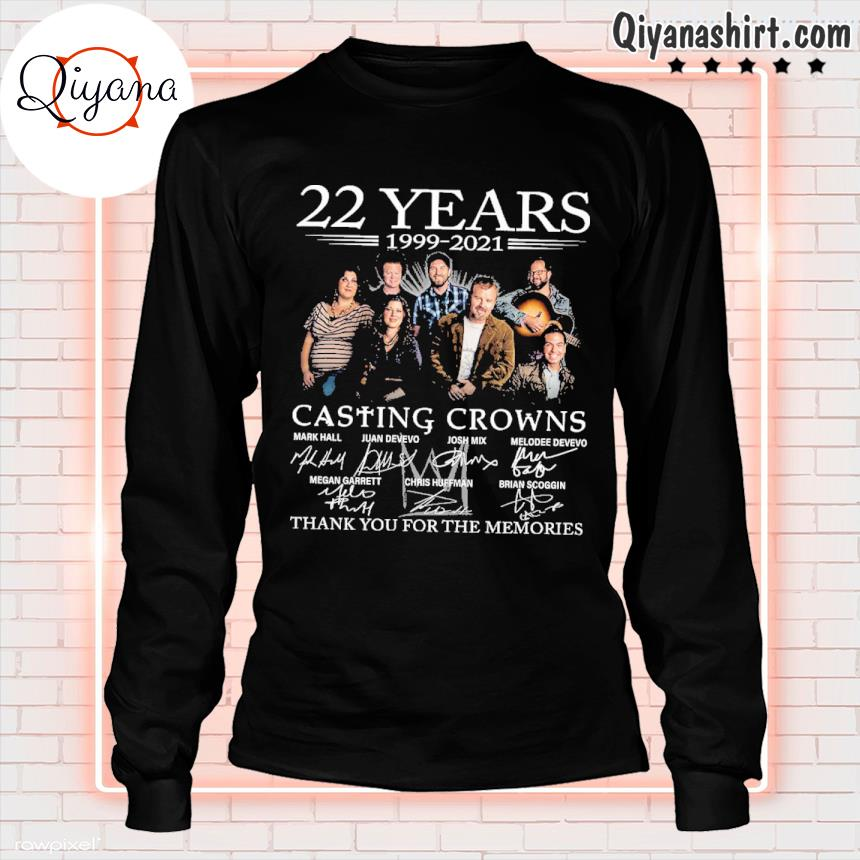 22 years 1999 2021 casting crowns thank you for the memories s longsleve-black