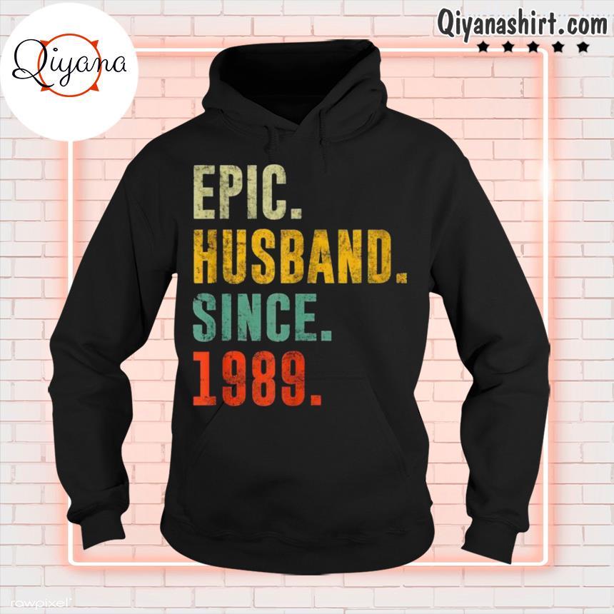32nd Wedding Anniversary Vintage Epic Husband Since 1989 s hoodie-black