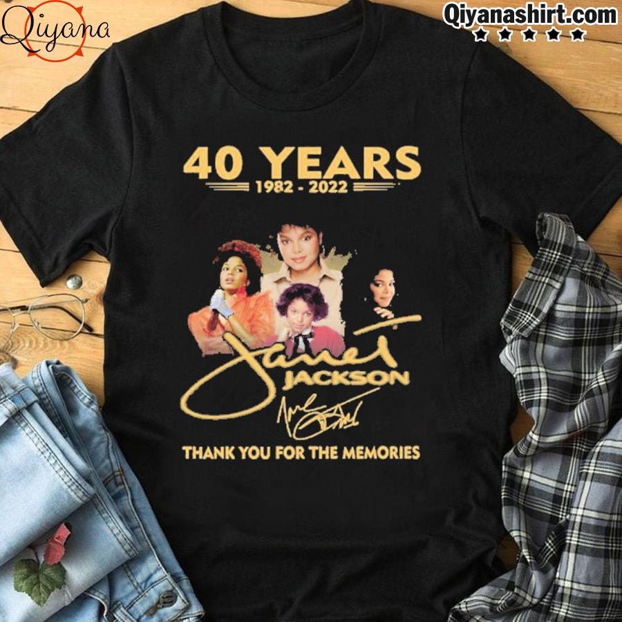 40 years 1982 2022 jackson thank you for the memories shirt