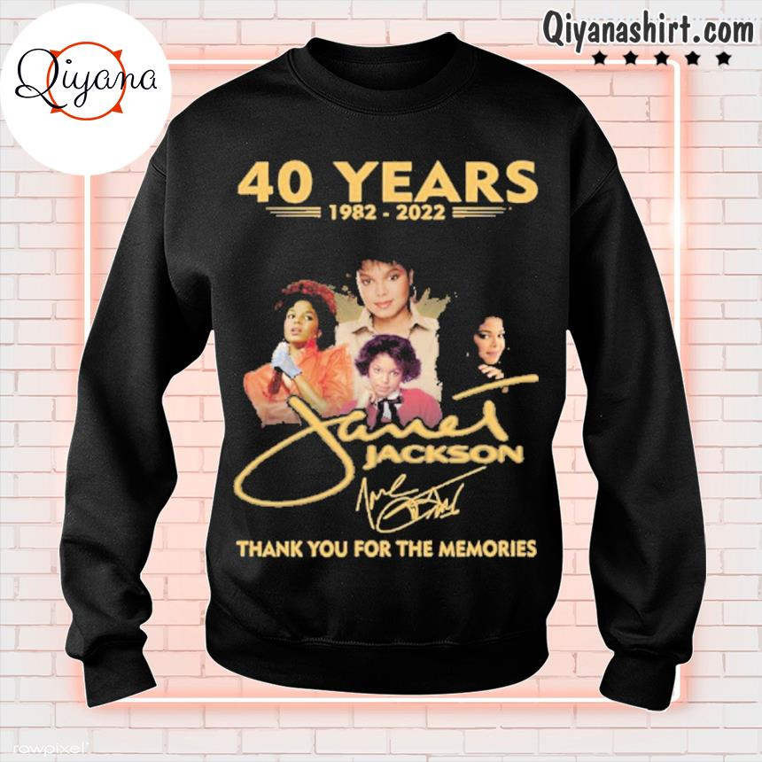 40 years 1982 2022 jackson thank you for the memories s sweatshirt-black