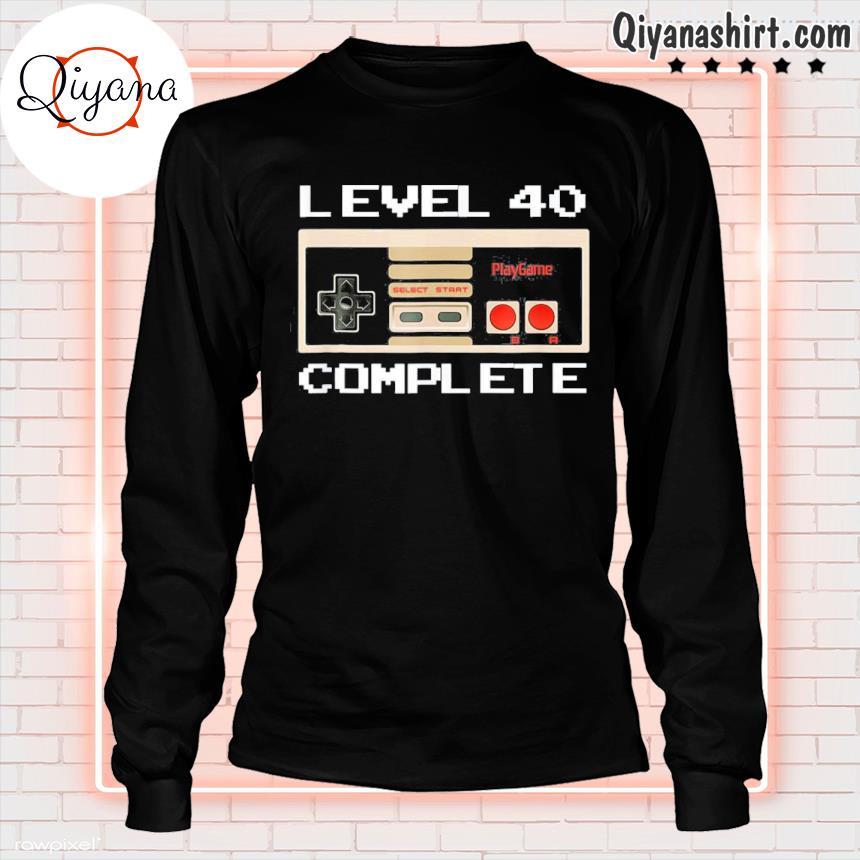 40th birthday ideas level 40 complete gamer tee s longsleve-black