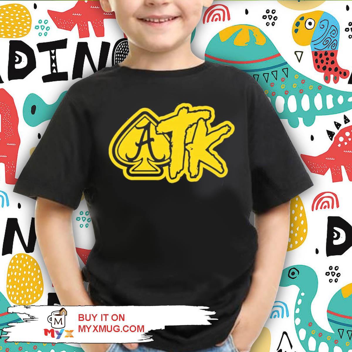 Atk merch spade black s kid shirt